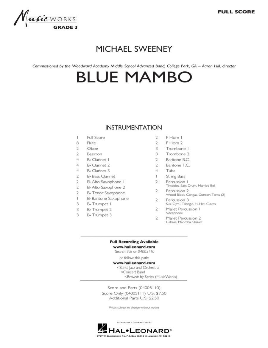 Blue Mambo - Conductor Score (Full Score)