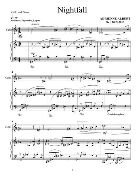 Nightfall for cello and piano