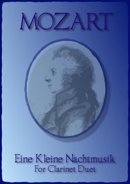Eine Kleine Nachtmusik, Allegro, by W A Mozart. Duet for Two Clarinets