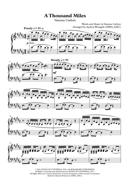 A Thousand Miles - Best Version (Piano)