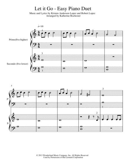 Let It Go (from Frozen) - Easy Piano Duet