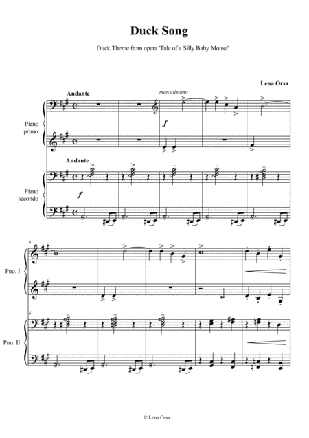 The Duck Song for piano 4 hands