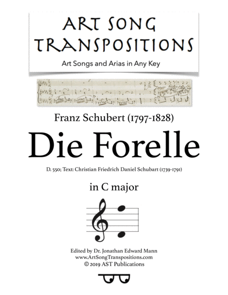 Die Forelle, D. 550 (C major)