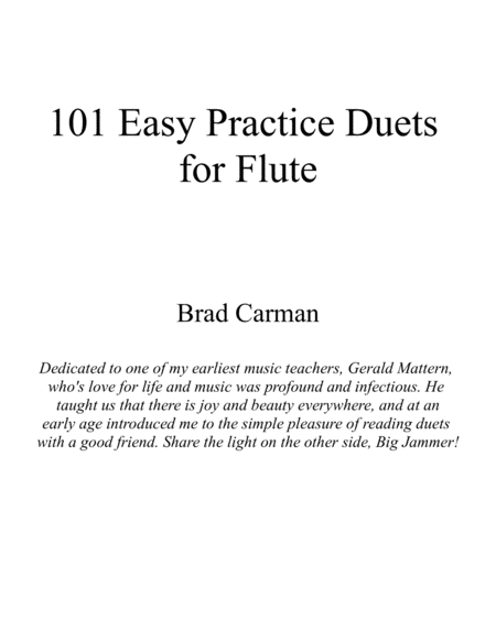 101 Easy Practice Duets for Flute