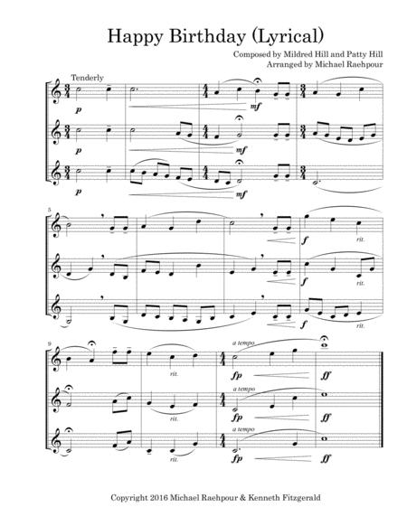 Happy Birthday (Lyrical) for Three Trumpets