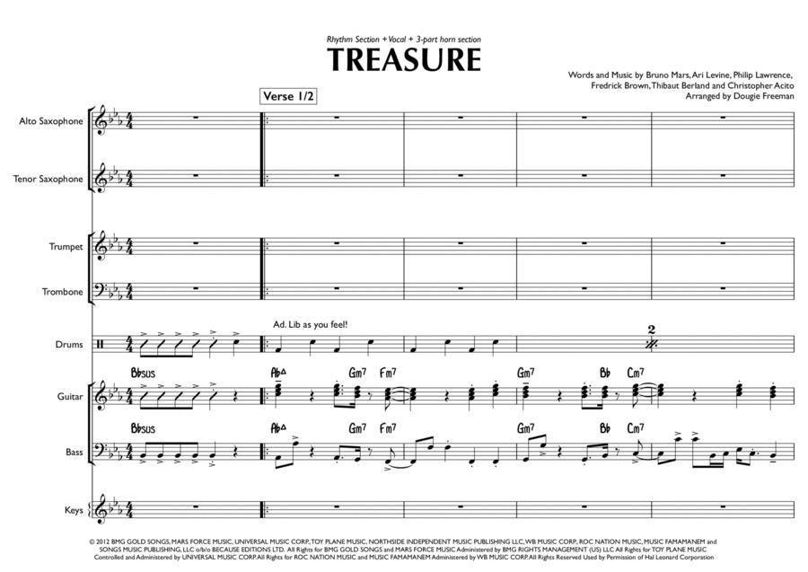 Treasure - Bruno Mars (Pop / Function Band Arrangement)