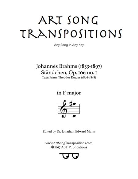Ständchen, Op. 106 no. 1 (F major)