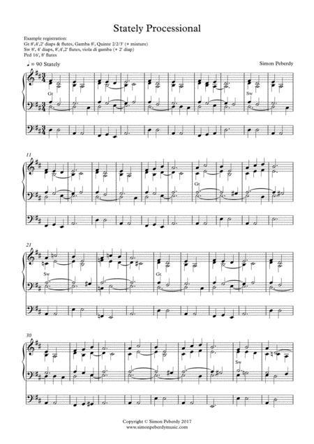 Organ Stately Processional by Simon Peberdy