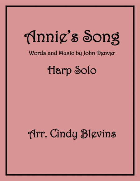 Annie's Song, Sheet Music for Lever or Pedal Harp