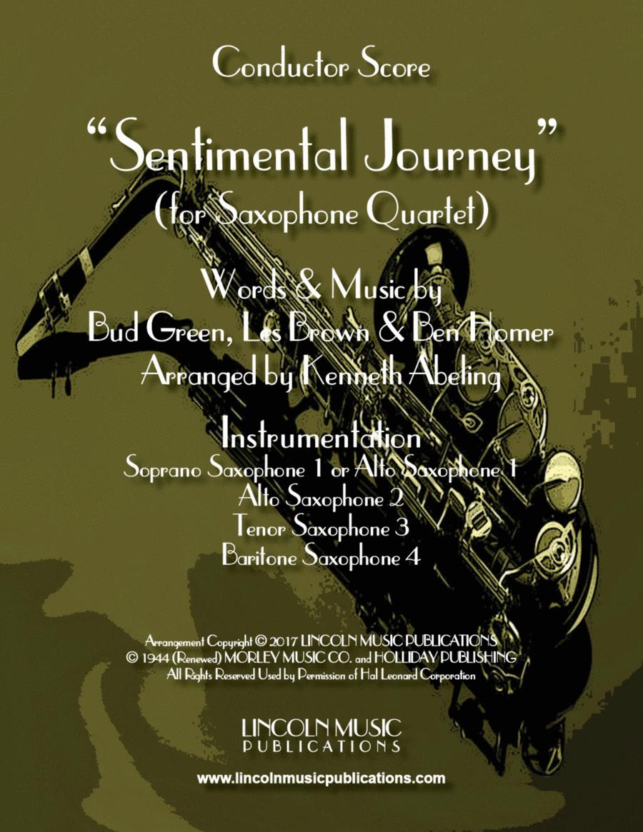 Sentimental Journey (for Saxophone Quartet SATB or AATB)