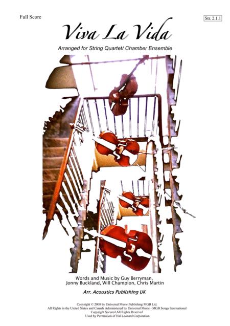 Viva La Vida- Arranged For String Quartet/ Chamber Ensemble