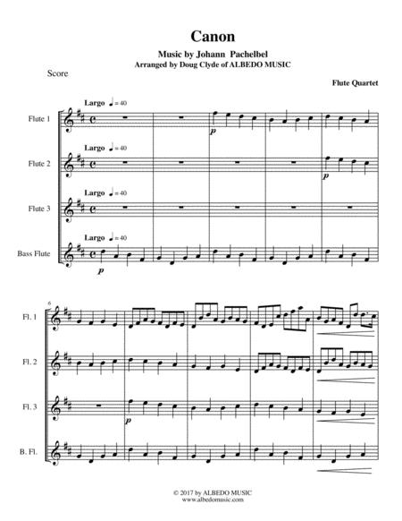 Pachelbel's Canon for Flute Quartet