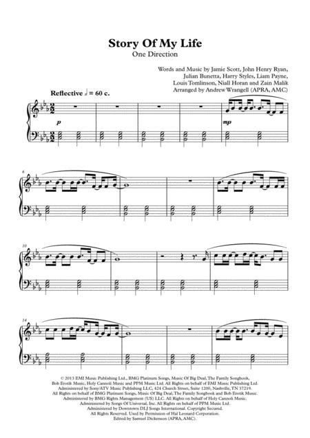 Story Of My Life (Easy Piano)