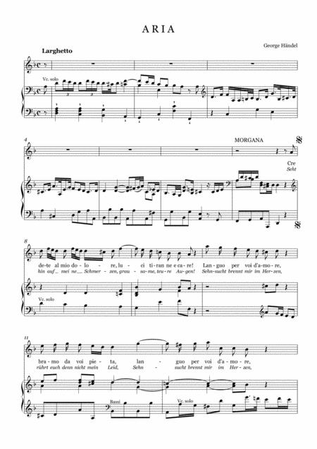 G.F.Handel-Aria of Morgana:Credete al mio dolore(from