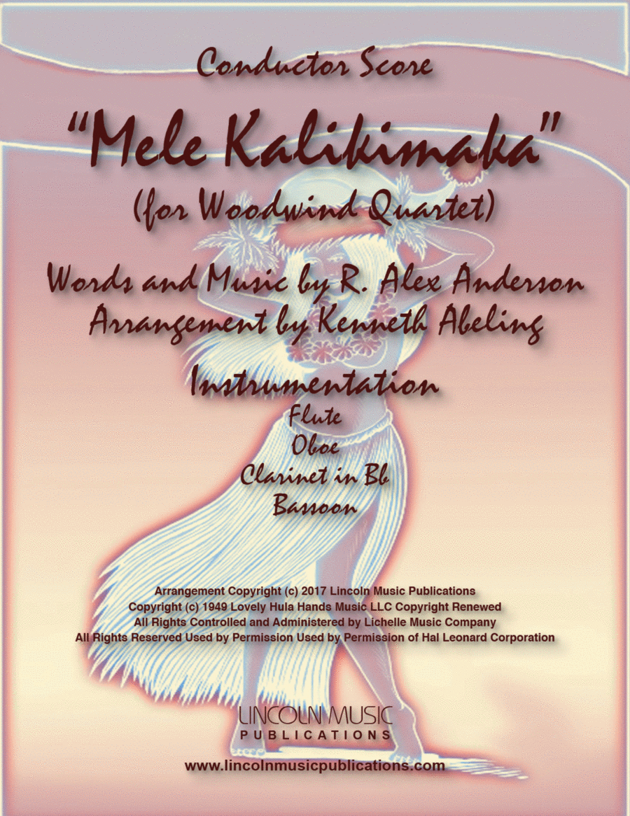 Mele Kalikimaka (for Woodwind Quartet)