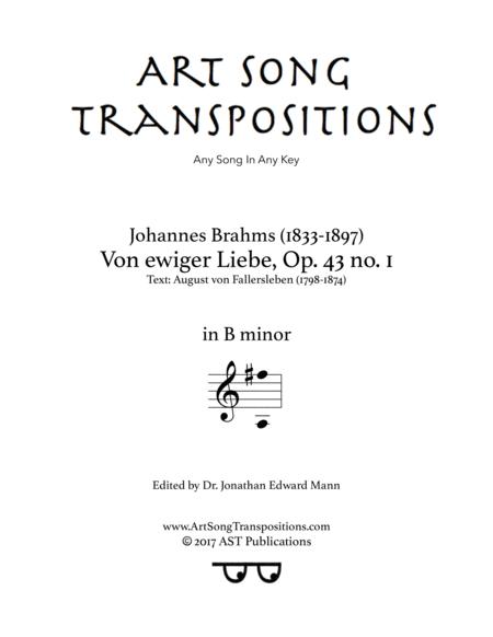 Von ewiger Liebe, Op. 43 no. 1 (B minor)