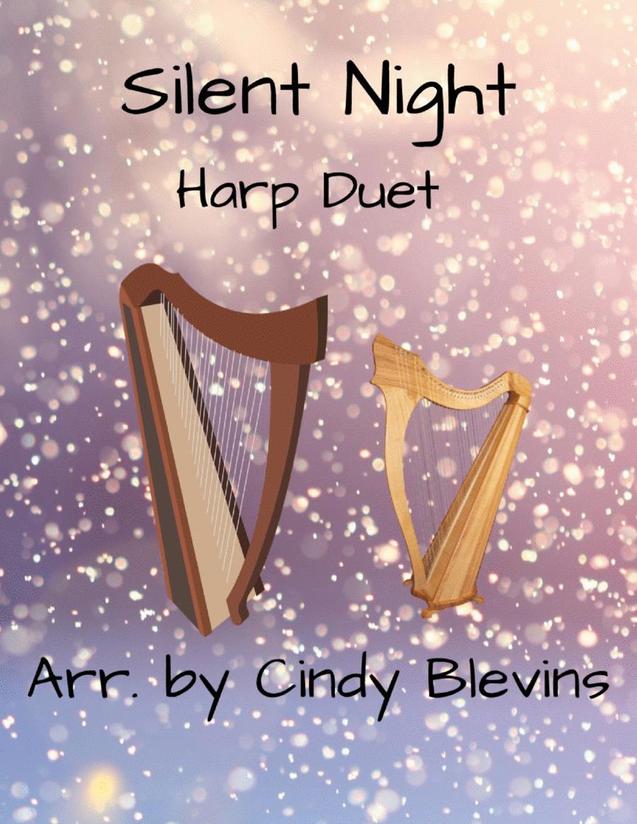 Silent Night, arranged for Harp Duet