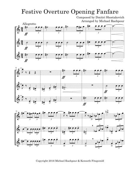 Festive Overture (Opening Fanfare) - Trumpet Trio