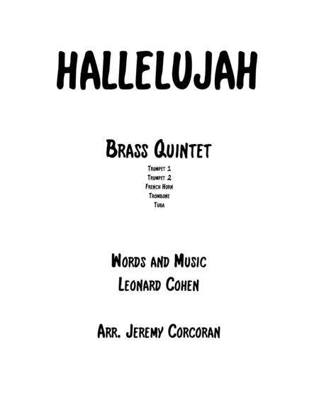 Hallelujah for Brass Quintet