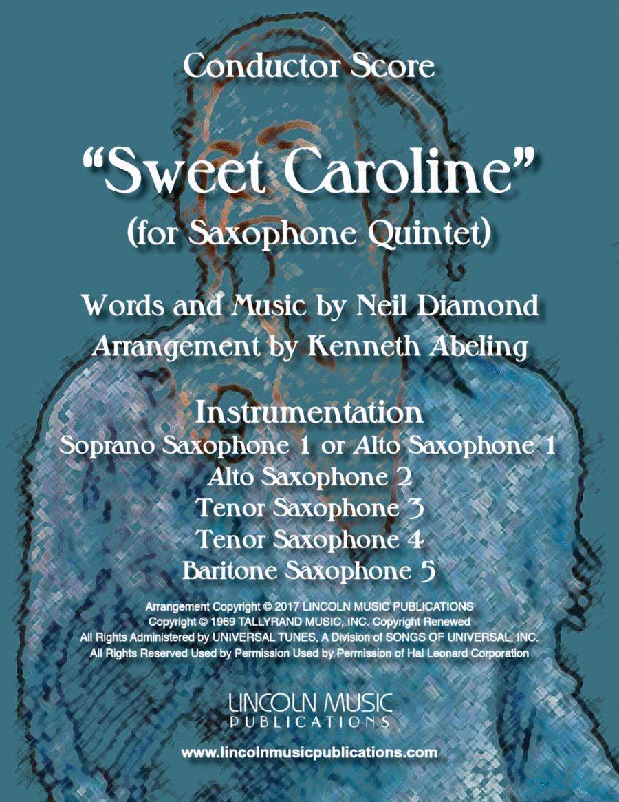 Sweet Caroline (for Saxophone Quintet SATTB or AATTB)