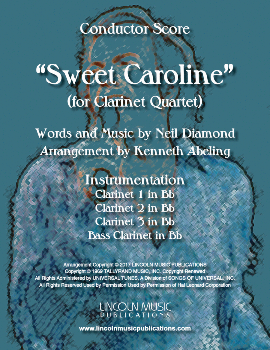 Sweet Caroline (for Clarinet Quartet)