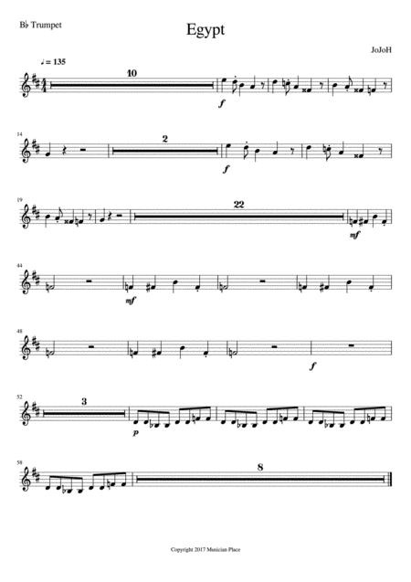 Egypt - Bb Trumpet