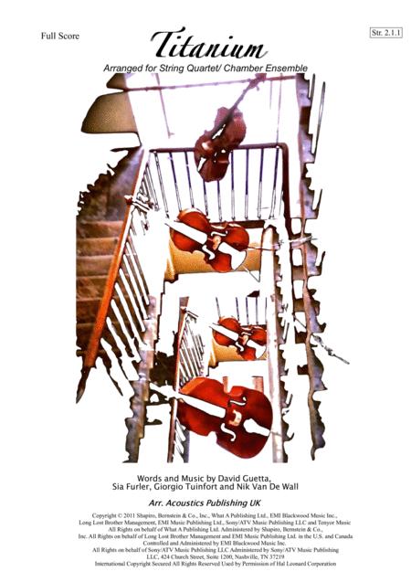 Titanium- Arranged for String Quartet/ Chamber Ensemble