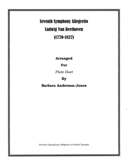 Seventh Symphony Allegretto (Flute Duet)