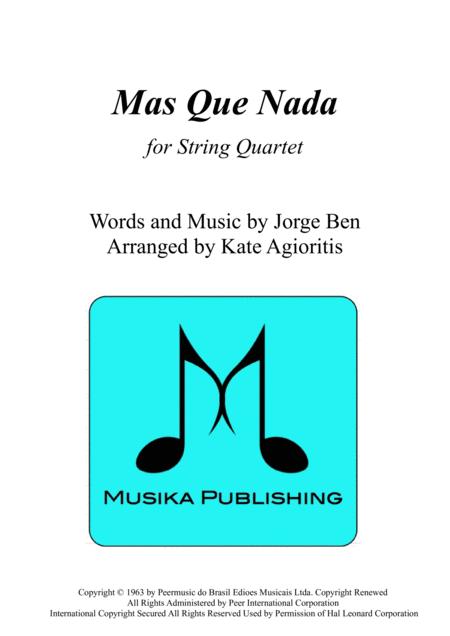 Mas Que Nada - for String Quartet