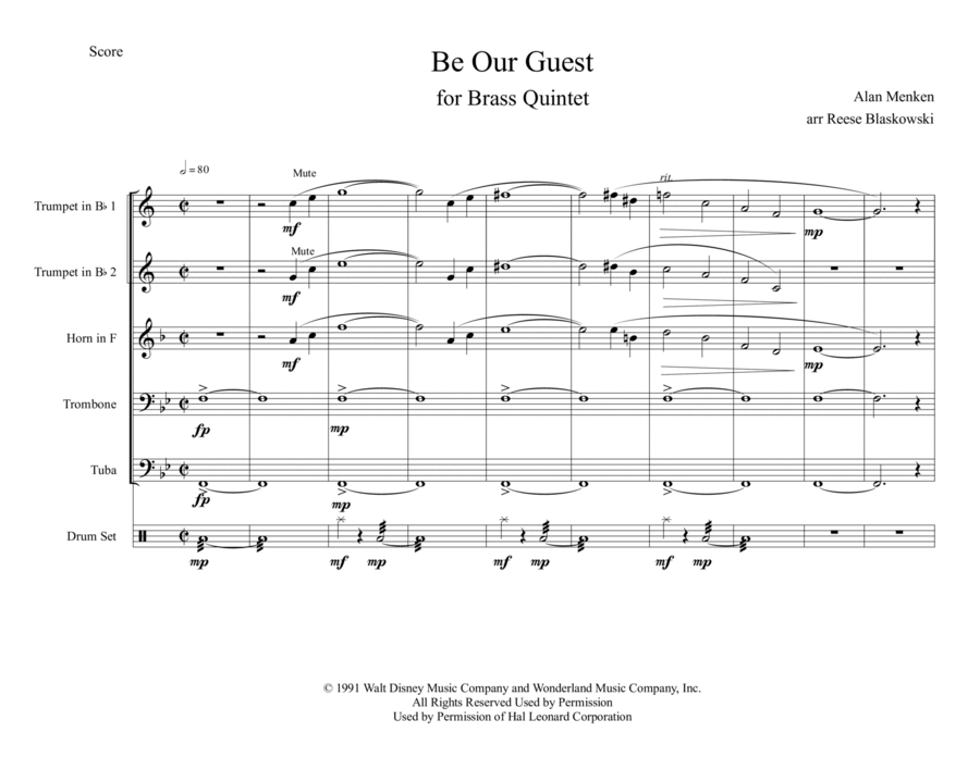 Be Our Guest - Brass Quintet