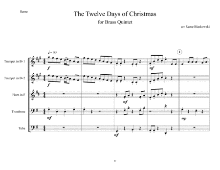 12 Days of Christmas - Brass Quintet