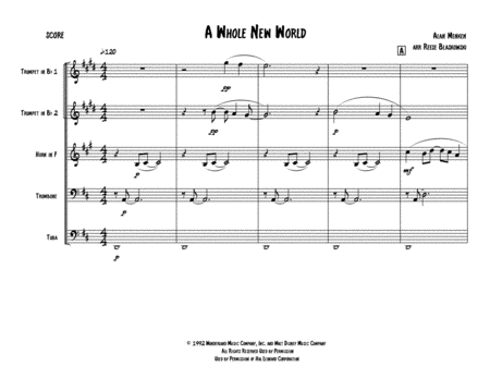 A Whole New World (from 'Aladdin') - Brass Quintet