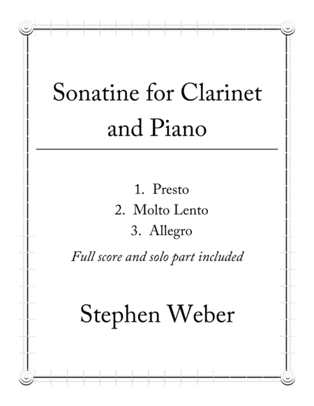 Sonatine for Clarinet and Piano