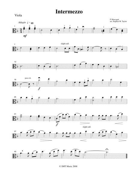 Intermezzo Mascagni (String Orchestra, string quintet)