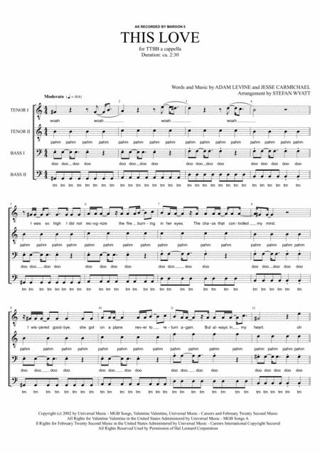 This Love - TTBB a cappella