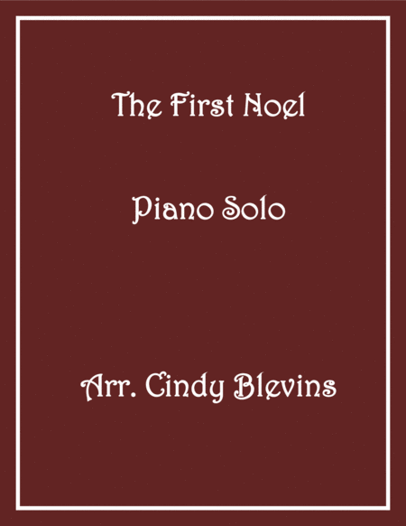 The First Noel, Piano Solo, from my book