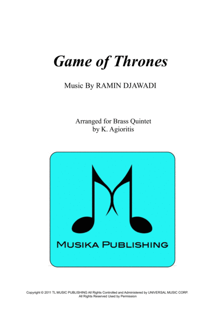 Game Of Thrones - for Brass Quintet