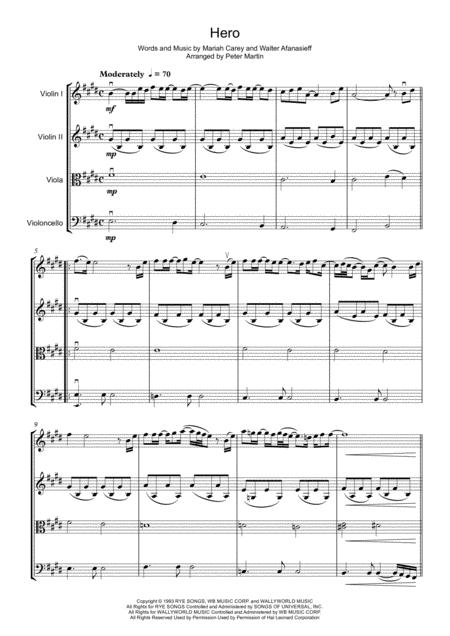 Hero - String Quartet