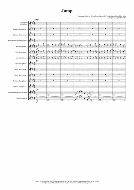 Jump by Van Halen - Saxophone choir (SnoSSAAATTTBBBs)