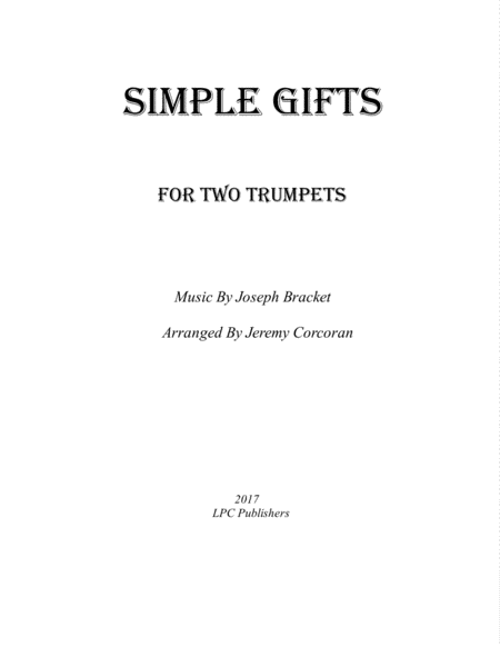 Simple Gifts for Two Trumpets