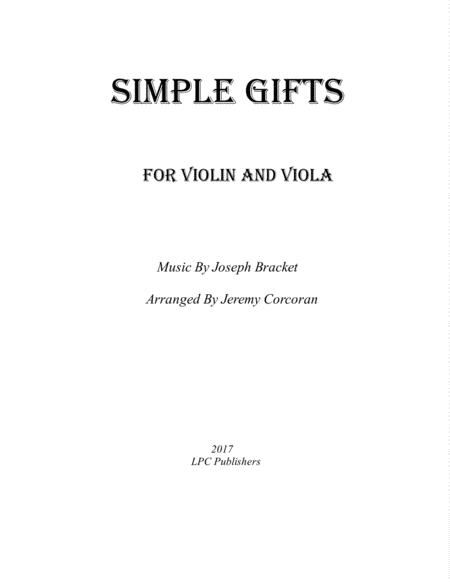 Simple Gifts for Violin and Viola