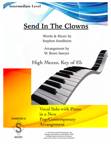 Send In The Clowns - High Mezzo, Key of Eb