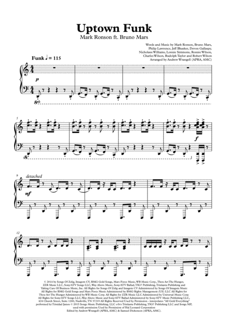 Uptown Funk (Piano)