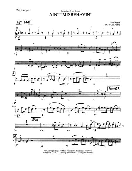 Ain't Misbehavin' - Bb Trumpet 2 (Brass Quintet)
