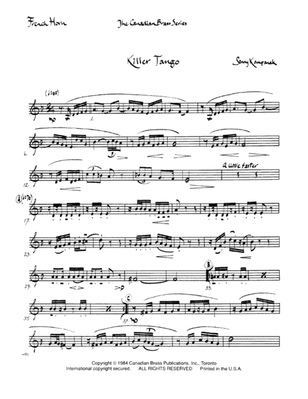 Killer Tango - Horn in F