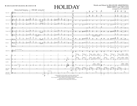 Holiday - Full Score