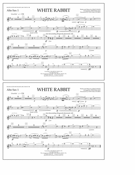 White Rabbit - Alto Sax 1