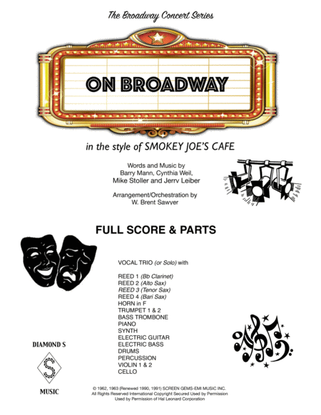 On Broadway - FULL SCORE & PARTS