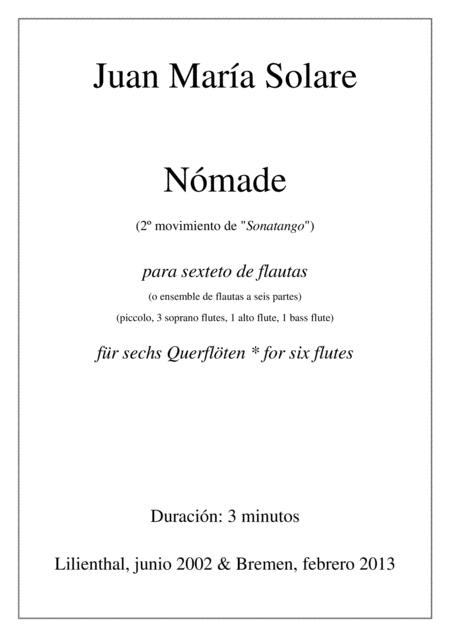 Nómade [flute choir - 6 parts]