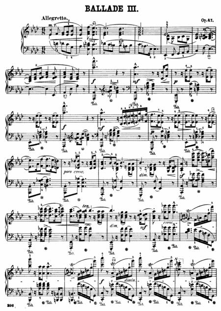 F.Chopin-Ballade No.3 in A-flat major, Op.47